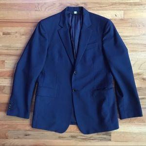 BURBERRY Men's Navy Wool Blazer Sport Coat 50R